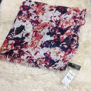 NWT Express multi colored square scarf